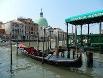 Serviço da gôndola de Veneza Foto de Stock