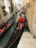 Serviço da gôndola de Veneza Fotos de Stock