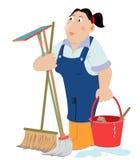 Serviço da limpeza ilustração royalty free