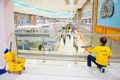 Serviço da limpeza do aeroporto Fotos de Stock