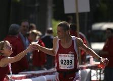 Serviço da maratona Fotografia de Stock Royalty Free