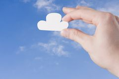 Serviço da nuvem Fotos de Stock Royalty Free