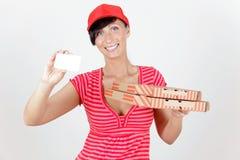 Serviço da pizza Imagens de Stock