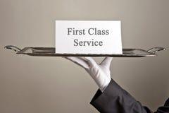 Serviço da primeira classe imagens de stock