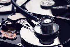 serviço da recuperação dos diagnósticos do disco rígido e dos dados digitais Fotos de Stock
