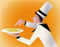 Serviço da sobremesa do fogão Imagem de Stock