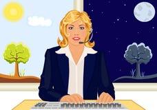 Serviço de atenção do cliente 24 horas ilustração do vetor