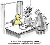 Serviço de atenção a o cliente ilustração royalty free