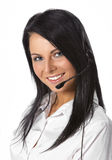 Serviço de atenção a o cliente Operador-Isolado Foto de Stock Royalty Free