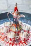 Serviço de café turco velho Fotos de Stock Royalty Free