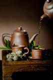 Serviço de chá fotografia de stock