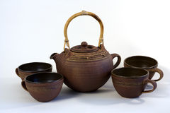 Serviço de chá cerâmico Foto de Stock Royalty Free