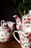 Serviço de chá encantador Fotografia de Stock Royalty Free