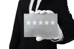 Serviço de cinco estrelas Imagem de Stock