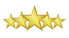 Serviço de cinco estrelas Imagem de Stock Royalty Free