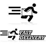 Serviço de correio ilustração stock