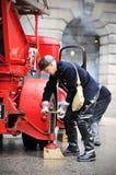 Serviço de incêndio Fotografia de Stock Royalty Free