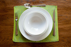 Serviço de jantar foto de stock royalty free