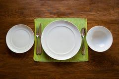 Serviço de jantar Fotografia de Stock Royalty Free