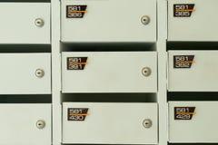 Serviço de madeira branco da caixa postal Imagem de Stock
