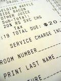 Serviço de quarto Bill Foto de Stock Royalty Free