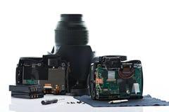 Serviço de reparações da câmara digital Imagem de Stock