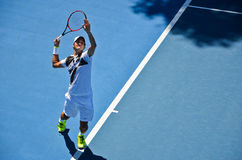 Serviço de Roger Federer Foto de Stock