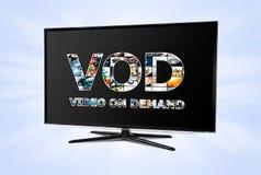 Serviço de VOD na tevê esperta foto de stock