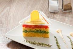 Serviço do alimento do vegetariano, salada do arroz com vegetais, refeições saudáveis Fotografia de Stock Royalty Free