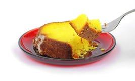 Serviço do bolo do limão Fotografia de Stock Royalty Free