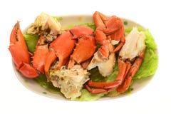 Serviço do caranguejo cozinhado foto de stock