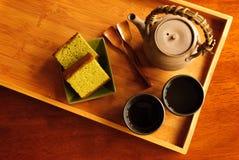 Serviço do chá Fotografia de Stock Royalty Free