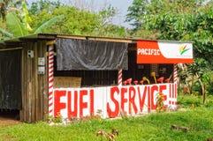 Serviço do combustível - Espiritu Santo imagens de stock