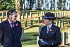 Serviço do dia da relembrança, perseguição de Cannock fotografia de stock royalty free