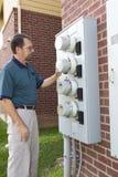 Serviço do medidor elétrico Imagem de Stock