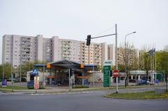 Serviço do posto de gasolina e do carro Fotos de Stock