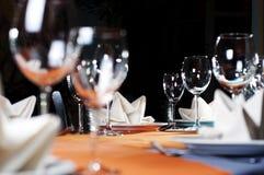 Serviço do restaurante Foto de Stock Royalty Free
