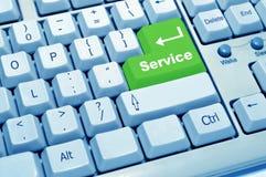 Serviço do teclado de computador Foto de Stock