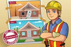 Serviço do trabalhador manual ou do contratante Foto de Stock Royalty Free