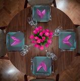 Serviço moderno da mesa redonda fotos de stock royalty free