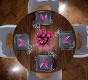 Serviço moderno da mesa redonda imagem de stock