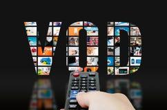 Serviço por encomenda video da televisão imagens de stock