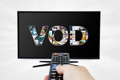 Serviço por encomenda video na tevê Imagem de Stock Royalty Free