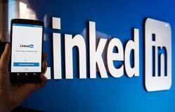 Serviço social LinkedIn dos trabalhos em rede fotos de stock royalty free