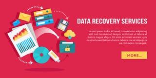 Serviços da recuperação dos dados Grupo de ícones lisos do conceito Fotos de Stock