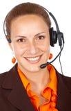 Serviços de atenção a o cliente representativos Fotografia de Stock