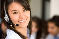 Serviços de atenção a o cliente representativos Imagem de Stock Royalty Free