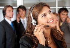 Serviços de atenção a o cliente representativos Imagens de Stock Royalty Free