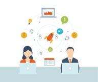 Serviços de consultadoria, gestão do projeto, planejamento estratégico Suporte laboral Gestão de investimento Imagem de Stock