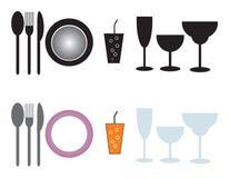 Serviços de jantar Fotografia de Stock Royalty Free